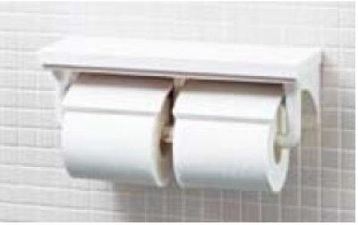 画像1: 【在庫あり】紙巻器 INAX CF-AA64/BW1 ピュアホワイト 棚付2連紙巻器 [☆◇]