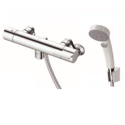 画像1: 【在庫あり】TOTO 浴室用水栓金具 TBV03410J GGシリーズ 壁付サーモスタット混合水栓(コンフォートウェーブクリックシャワー) [☆]