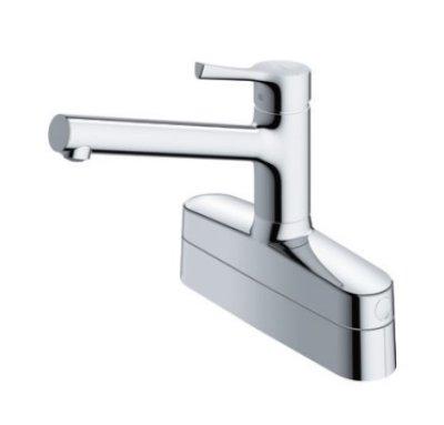 画像1: 【在庫あり】水栓金具 TOTO TKS05319J キッチン GGシリーズ 台付シングル混合水栓 2ハンドル取り替え用 [☆]