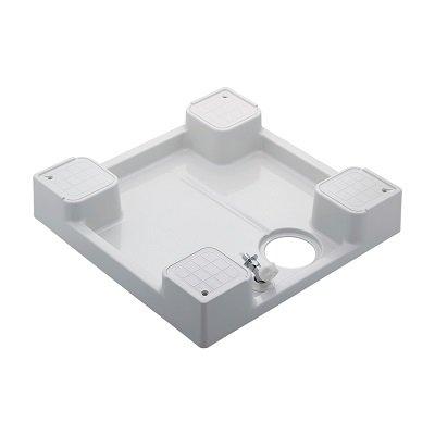 画像1: 洗面所 カクダイ 426-501K-W 洗濯機用防水パン(水栓つき) ホワイト [♪■]