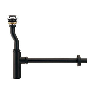 画像1: 水栓金具 カクダイ 433-148-25D ボトルトラップユニット ブラック [♪■]