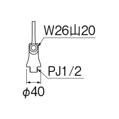 画像2: 水栓金具 三栄水栓 A5311LF-13 厨房用立形自在水栓本体 左ハンドル(共用形) [□]