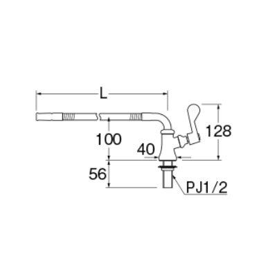 画像2: 水栓金具 三栄水栓 A5380A3-13 厨房用ベンリー立形自在水栓(共用形) [□]