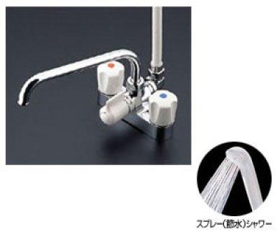 画像1: 【在庫あり】TOTO  TMS27C  2ハンドルシャワー水栓・一般シリーズ・台付タイプ・スプレー(節水) [☆]