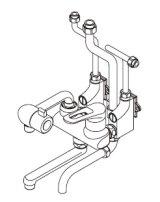 ■ イトミック ワンレバー式混合水栓まぜまぜ・MZ-N3シリーズ【MZ-2N3】壁掛型湯沸器EWシリーズ専用・露出配管