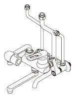 ■ イトミック ワンレバー式混合水栓まぜまぜ・MZ-N3シリーズ【MZ-8N3】壁掛型湯沸器EWシリーズ専用・既設配管対応型