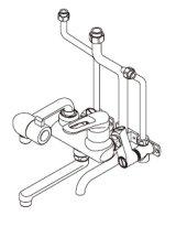 ■ イトミック ワンレバー式混合水栓まぜまぜ・MZ-N3シリーズ【MZ-9N3】壁掛型湯沸器EWシリーズ専用・露出配管