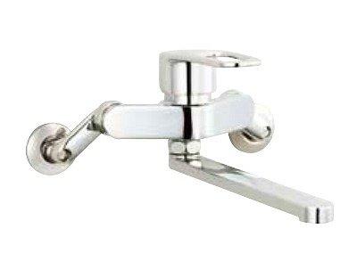 画像1: 【在庫あり】水栓金具 INAX SF-WM435SY キッチン用 壁付 クロマーレS(エコハンドル) シングルレバー 吐水口長さ220mm 一般地 [☆]